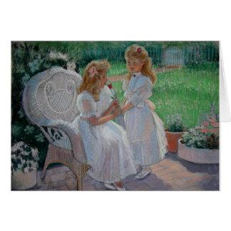 El jardín de la hermana tarjeta de felicitación