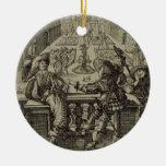 El jardín de la nobleza francesa, c.1640 (engravi adornos de navidad
