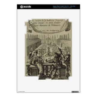 El jardín de la nobleza francesa, c.1640 (engravi iPad 3 skin