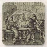 El jardín de la nobleza francesa, c.1640 (engravi posavasos de bebidas