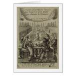 El jardín de la nobleza francesa, c.1640 (engravi tarjeta