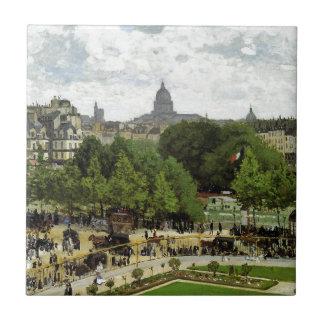 El jardín de la princesa de Claude Monet Azulejo Cuadrado Pequeño