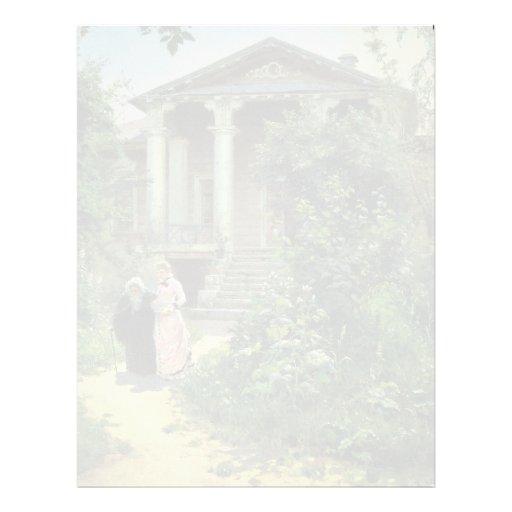 El jardín de las abuelas, por Polenow Wassilij Dim Membrete Personalizado