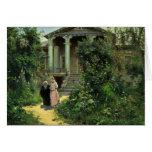 El jardín de las abuelas, por Polenow Wassilij Dim Tarjeton