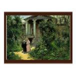 El jardín de las abuelas, por Polenow Wassilij Dim Tarjetas Postales