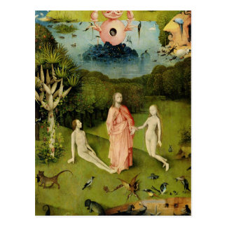El jardín de los placeres terrestres 2 tarjeta postal