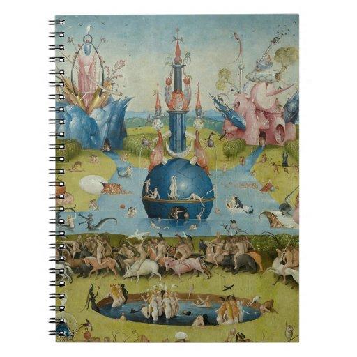 El jardín de los placeres terrestres (detalle) libros de apuntes