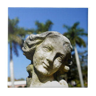 El jardín de Mabel Azulejo Cuadrado Pequeño