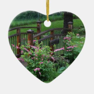 El jardín de Mercury Adorno Navideño De Cerámica En Forma De Corazón