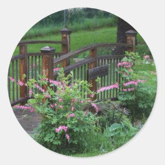 El jardín de Mercury Pegatina Redonda