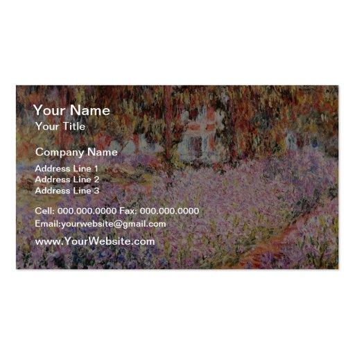 El jardín de Monet amarillo en Giverny, flo de Cla Tarjetas De Visita