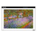 El jardín de Monet de Claude Monet Calcomanía Para Portátil