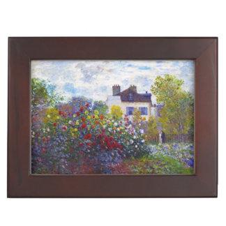 El jardín de Monet en Argenteuil Claude Monet Caja De Recuerdos