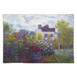 El jardín de Monet en Argenteuil Claude Monet Mantel Individual