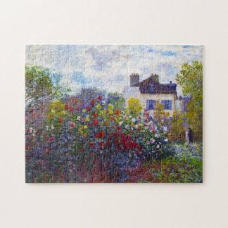 El jardín de Monet en Argenteuil Claude Monet Rompecabezas