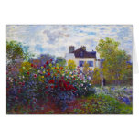 El jardín de Monet en Argenteuil Claude Monet Tarjeta Pequeña
