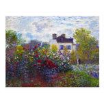 El jardín de Monet en Argenteuil Claude Monet Postales