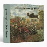 "El jardín de Monet en Argenteuil de Claude Monet Carpeta 1 1/2"""