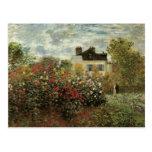 El jardín de Monet en el impresionismo del vintage Postal