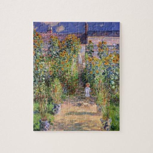 El jardín de Monet en Vétheuil Rompecabezas