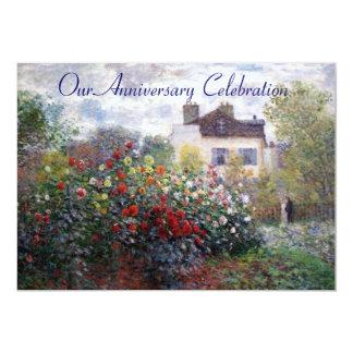 El jardín de Monet florece la invitación del