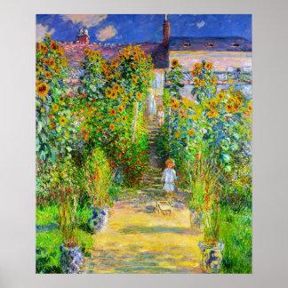 El jardín de Monet Póster