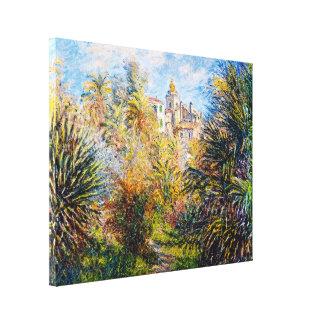 El jardín de Moreno en Bordighera, Claude Monet 18 Lona Envuelta Para Galerias
