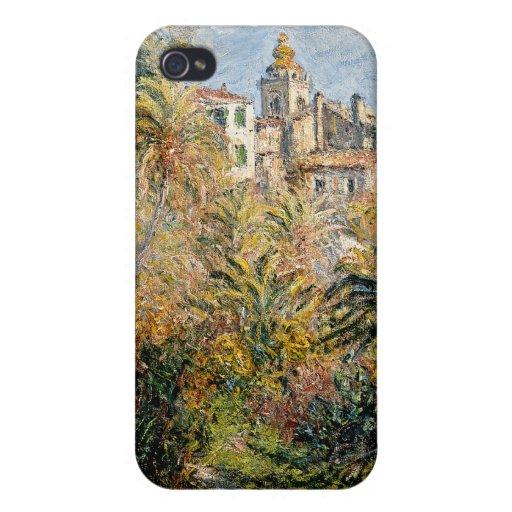 El jardín de Moreno en Bordighera - Claude Monet iPhone 4 Protectores