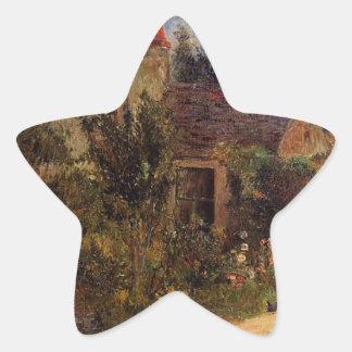 El jardín de Pissarro, Pontoise de Paul Gauguin Pegatina En Forma De Estrella