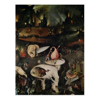 El jardín de placeres terrestres, infierno postal