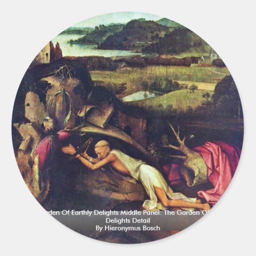 El jardín de placeres terrestres: Por Hieronymus Pegatina Redonda