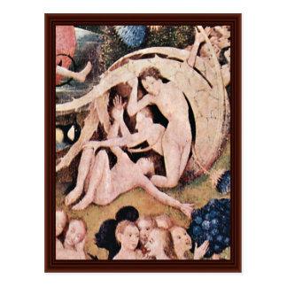 El jardín de placeres terrestres: Por Hieronymus Tarjeta Postal
