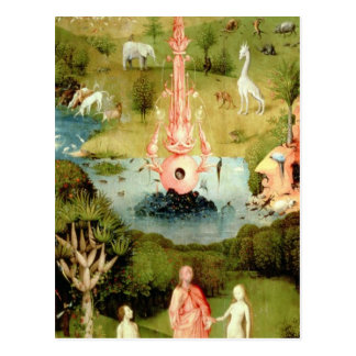 El jardín de placeres terrestres tarjetas postales