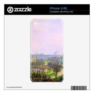 El jardín de Tuileries de Camille Pissarro Calcomanías Para iPhone 4