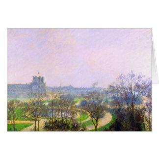 El jardín de Tuileries de Camille Pissarro Tarjetón