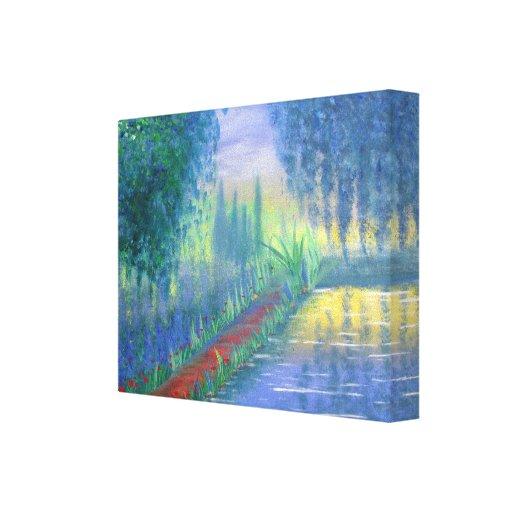 El jardín de un artista lienzo envuelto para galerías