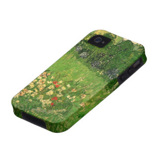 El jardín de Van Gogh Daubigny, vintage florece Case-Mate iPhone 4 Funda