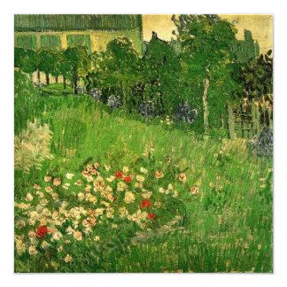 El jardín de Van Gogh Daubigny, vintage florece Invitación 13,3 Cm X 13,3cm