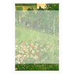 El jardín de Van Gogh Daubigny, vintage florece Papeleria