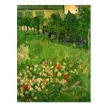 El jardín de Van Gogh Daubigny, vintage florece Postal
