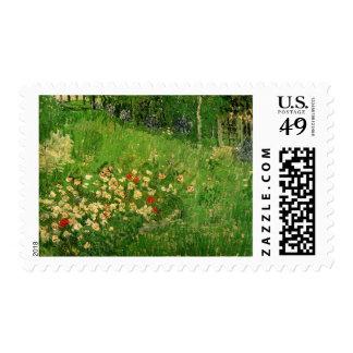 El jardín de Vincent van Gogh, arte de Daubigny Estampillas