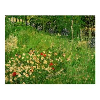 El jardín de Vincent van Gogh, arte de Daubigny Postales