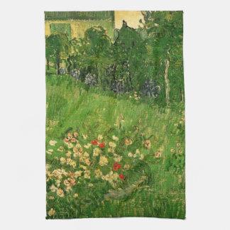 El jardín de Vincent van Gogh, arte de Daubigny Toalla De Cocina