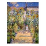 El jardín del artista de Claude Monet Tarjeta Postal