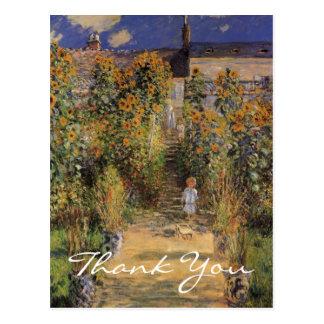El jardín del artista de Monet en Vetheuil Tarjetas Postales