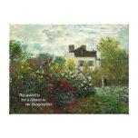 El jardín del artista en Argenteuil 1873 (Monet) Impresión De Lienzo