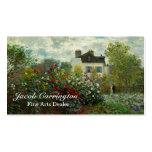 El jardín del artista en Argenteuil 1873 (Monet) Tarjeta Personal