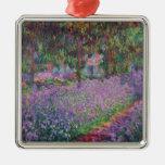 El jardín del artista en Giverny, 1900 Adorno Navideño Cuadrado De Metal