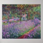 El jardín del artista en Giverny, 1900 Póster