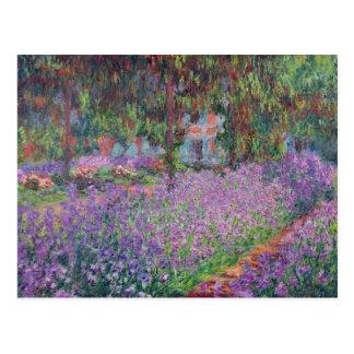 El jardín del artista en Giverny, 1900 Tarjetas Postales